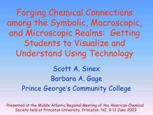 Forging Chemical Connections among the Symbolic, Macroscopic, and Microscopic Realms:  Getting