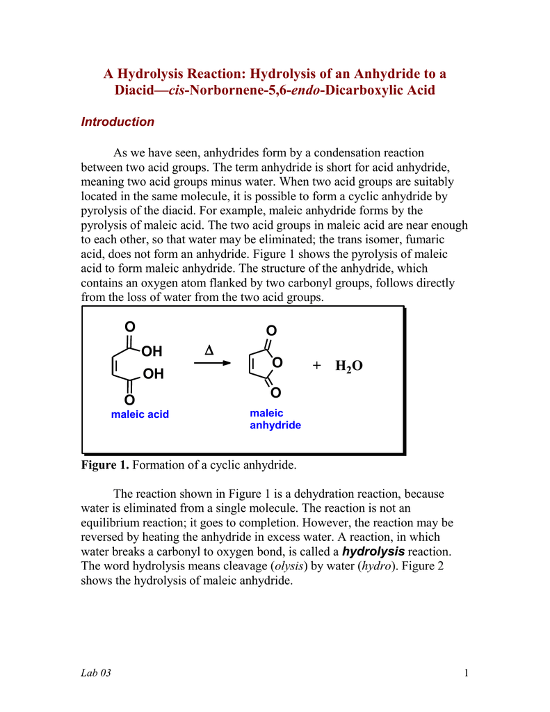 cis norbornene 5 6 endo dicarboxylic anhydride solubility