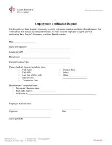 Employment Verification Request