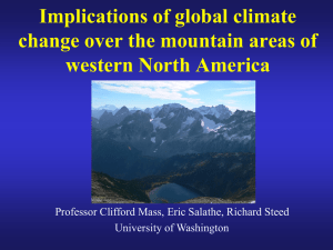 Implications of global climate change over the mountain areas of