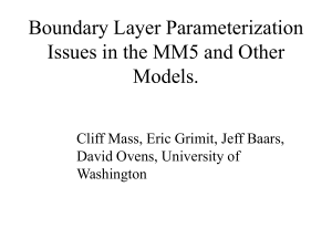 Boundary Layer Parameterization Issues in the MM5 and Other Models.