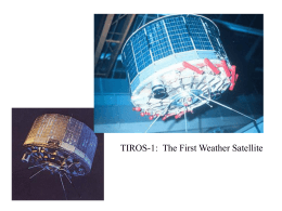 TIROS-1:  The First Weather Satellite