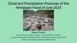 Cloud and Precipitation Processes of the Himalayan Flood of June 2013