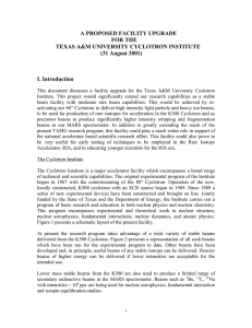 A PROPOSED FACILITY UPGRADE FOR THE TEXAS A&M UNIVERSITY CYCLOTRON INSTITUTE