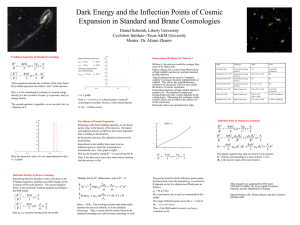 Dark Energy and the Inflection Points of Cosmic