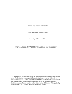 , Topoi XXIV, 2005: Play, games and philosophy
