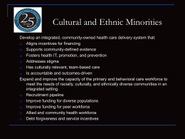Cultural and Ethnic Minorities