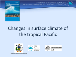 Changes in surface climate of the tropical Pacific  Solomon Islands Government