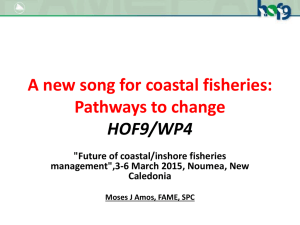 A new song for coastal fisheries: Pathways to change HOF9/WP4
