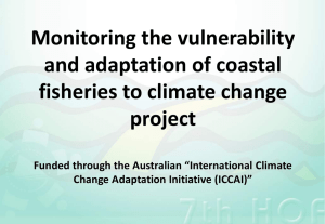 Monitoring the vulnerability and adaptation of coastal fisheries to climate change project