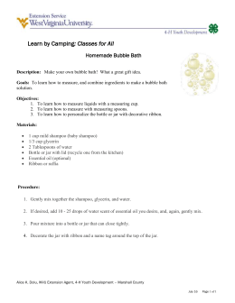 : Classes for All  Homemade Bubble Bath