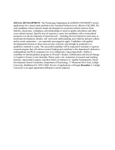 applications for a tenure-track position at the Assistant Professor level,... seek candidates whose interests situate development in social and cultural... SOCIAL DEVELOPMENT