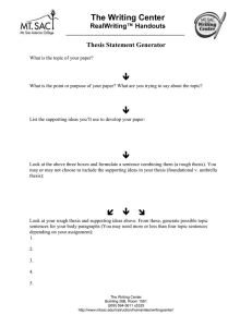  The Writing Center ™ Handouts RealWriting