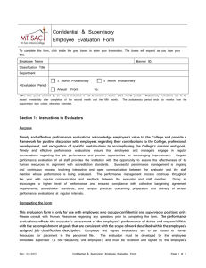 Confidential & Supervisory Employee Evaluation Form