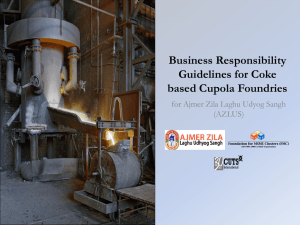 Business Responsibility Guidelines for Coke based Cupola Foundries