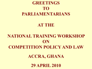 GREETINGS TO PARLIAMENTARIANS AT THE