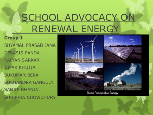 SCHOOL ADVOCACY ON RENEWAL ENERGY