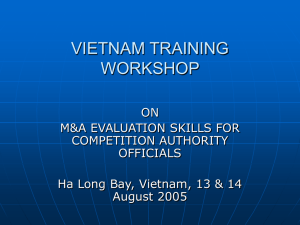 VIETNAM TRAINING WORKSHOP