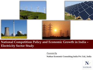 National Competition Policy and Economic Growth in India – Presented By