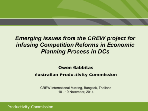 Emerging Issues from the CREW project for Planning Process in DCs