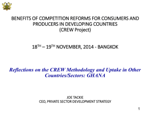 BENEFITS OF COMPETITION REFORMS FOR CONSUMERS AND PRODUCERS IN DEVELOPING COUNTRIES 18