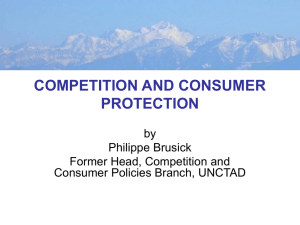 COMPETITION AND CONSUMER PROTECTION by Philippe Brusick