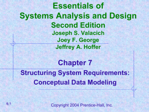 Essentials of Systems Analysis and Design Second Edition Chapter 7