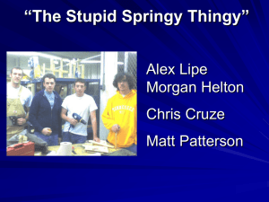 """The Stupid Springy Thingy"" Alex Lipe Morgan Helton Chris Cruze"