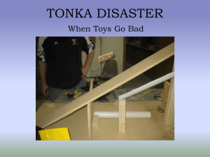 TONKA DISASTER When Toys Go Bad