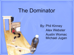 The Dominator Phil Kinney Alex Webster Austin Womac
