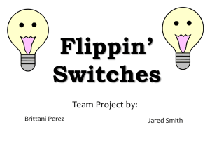 Flippin' Switches Team Project by: Brittani Perez
