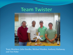 Team Members: John Smolko, Michael Warden, Anthony Hathaway, and Tim Pobst