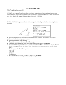 MATLAB Assignment #2