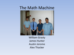 The Math Machine William Grasty James Hunter Austin Jerome