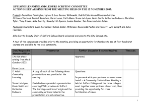 LIFELONG LEARNING AND LEISURE SCRUTINY COMMITTEE