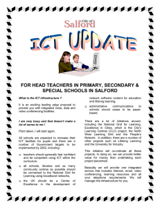 FOR HEAD TEACHERS IN PRIMARY, SECONDARY & SPECIAL SCHOOLS IN SALFORD