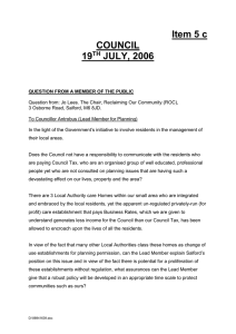Item 5 c COUNCIL 19 JULY, 2006