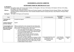 ENVIRONMENTAL SCRUTINY COMMITTEE  ACTION SHEET FROM THE  MEETING ON 19 JULY