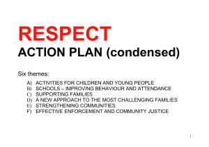 RESPECT ACTION PLAN (condensed)  Six themes: