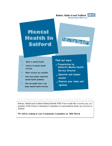 Mental Health In  Salford