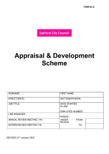 Appraisal & Development Scheme