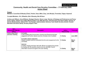 – 17 February 2005 Community, Health and Social Care Scrutiny Committee