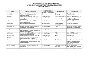 ENVIRONMENTAL SCRUTINY COMMITTEE ACTION SHEET ARISING FROM THE ABOVE COMMITTEE June