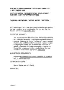 REPORT TO ENVIRONMENTAL SCRUTINY COMMITTEE 16 SEPTEMBER 2002