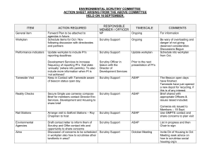 ENVIRONMENTAL SCRUTINY COMMITTEE ACTION SHEET ARISING FROM THE ABOVE COMMITTEE SEPTEMBER.