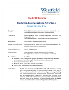 Student Internship  Marketing, Communications, Advertising Envision Marketing Group
