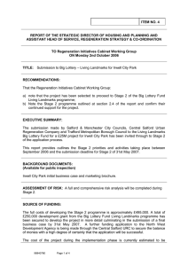 ITEM NO. 4 ASSISTANT HEAD OF SERVICE, REGENERATION STRATEGY & CO-ORDINATION