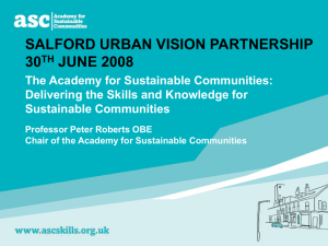 SALFORD URBAN VISION PARTNERSHIP 30 JUNE 2008