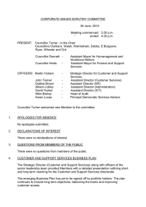 CORPORATE ISSUES SCRUTINY COMMITTEE  25 June, 2012 Meeting commenced:  2.00 p.m.