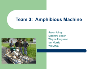 Team 3:  Amphibious Machine Jason Alfrey Matthew Beach Wayne Ferguson